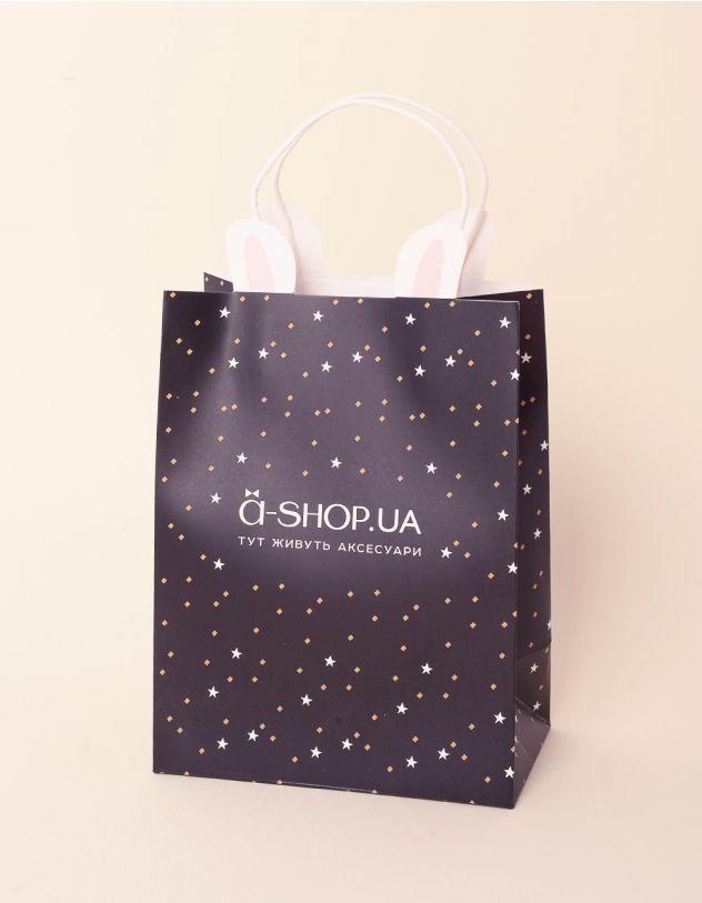 Пакет подарунковий a shop з вушками та зірочками   237923-02-XX - A-SHOP
