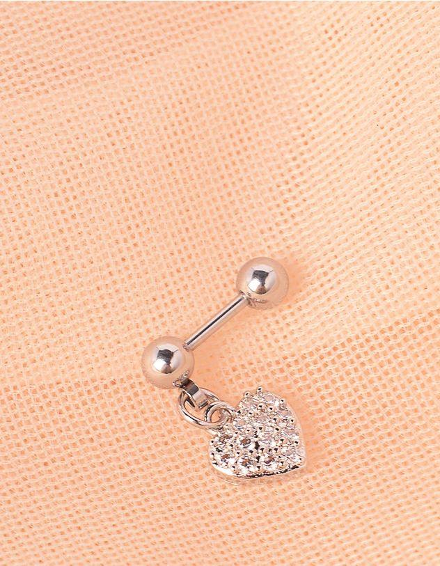 Сережка для пірсингу з серцем | 245252-06-XX - A-SHOP