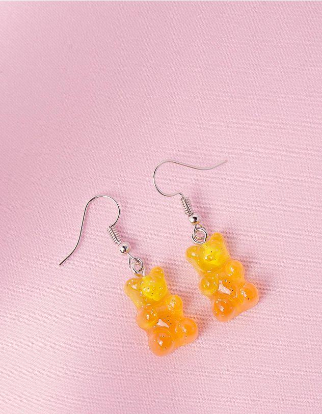 Сережки у вигляді желейних ведмедиків з блискітками | 244150-26-XX - A-SHOP