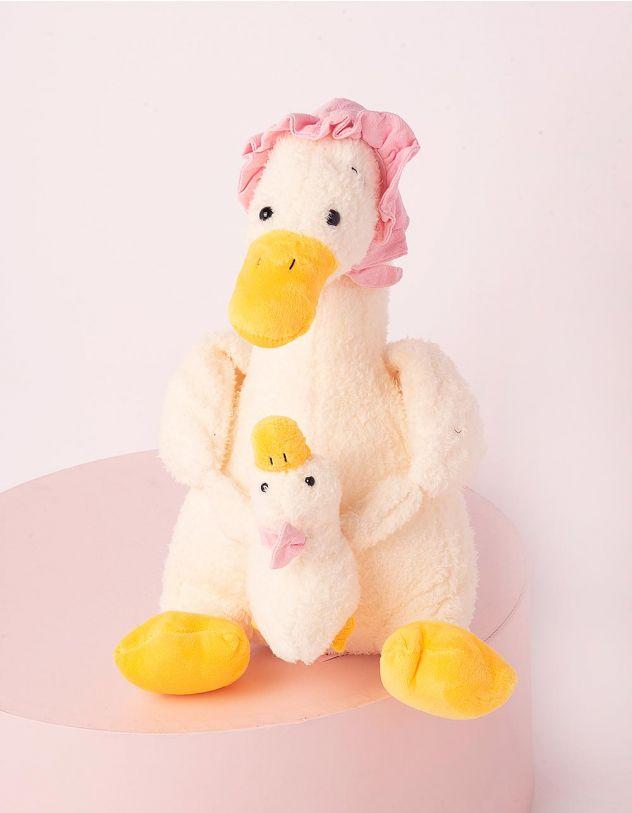 Іграшка м'яка у вигляді качки з каченям | 248593-01-XX - A-SHOP