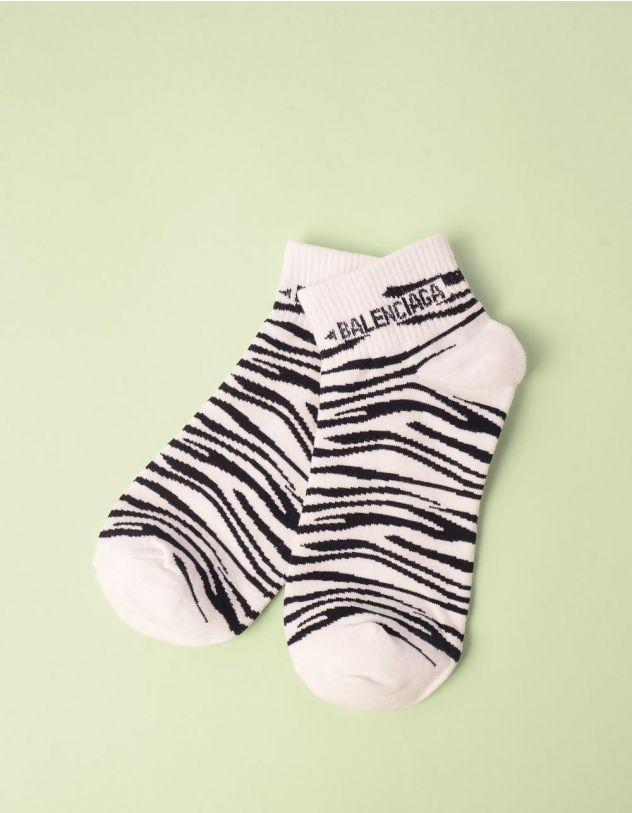 Шкарпетки з принтом зебри | 247618-01-XX - A-SHOP