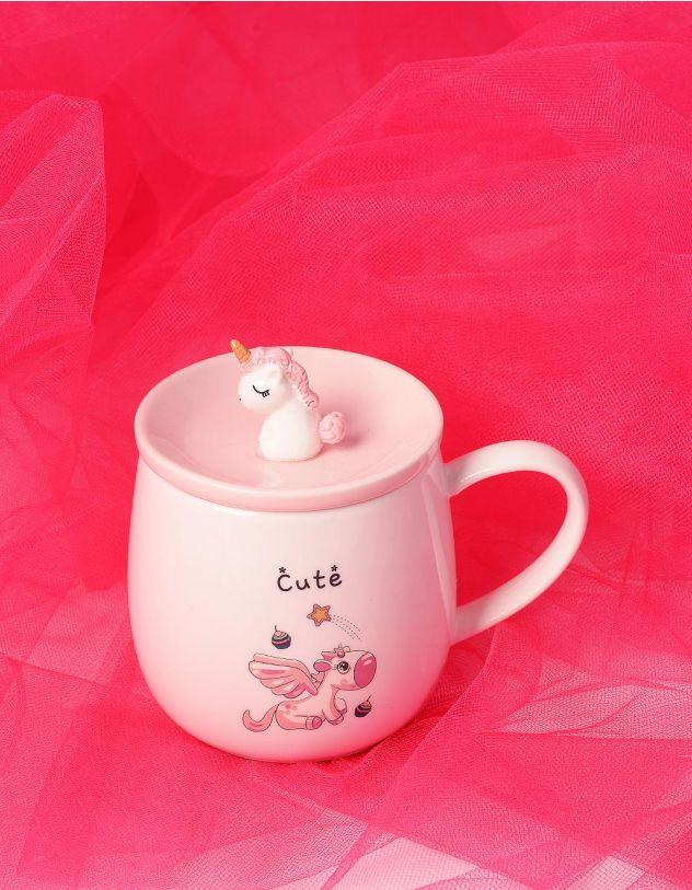 Чашка з єдинорогом на кришці | 239029-01-XX - A-SHOP