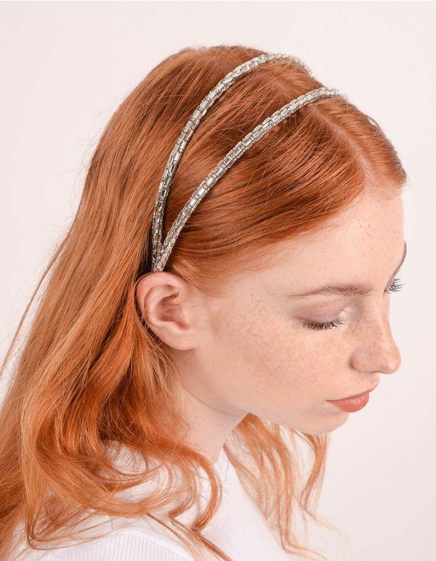 Обідок для волосся подвійний зі стразами | 247439-05-XX - A-SHOP
