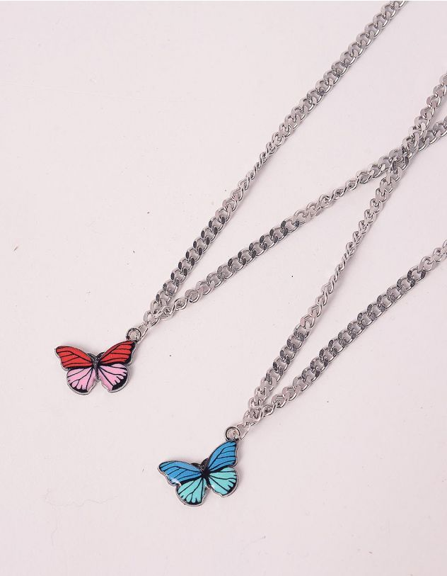 Підвіска на шию best friends з метеликами | 244163-21-XX - A-SHOP