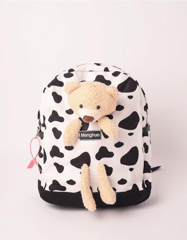 Рюкзак з тваринним принтом та ведмедиком | 248986-01-XX - A-SHOP