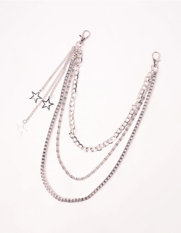 Ланцюжок для одягу  багатошаровий з зірочками | 244059-05-XX - A-SHOP