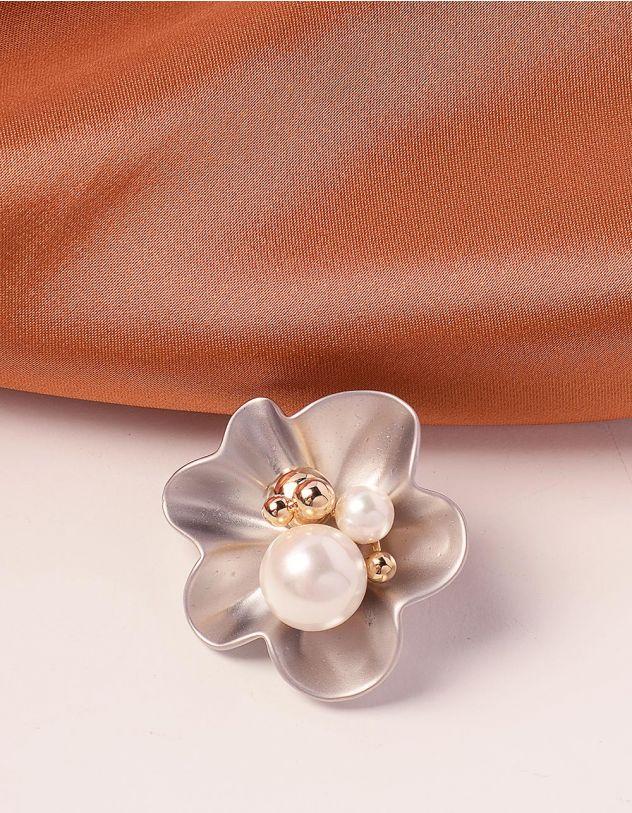 Брошка у вигляді квітки з перлинами | 239999-06-XX - A-SHOP