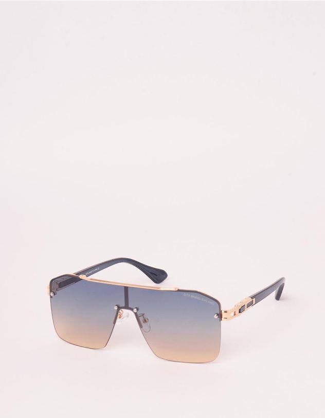Окуляри сонцезахисні маска з фурнітурою на оправі | 248222-30-XX - A-SHOP