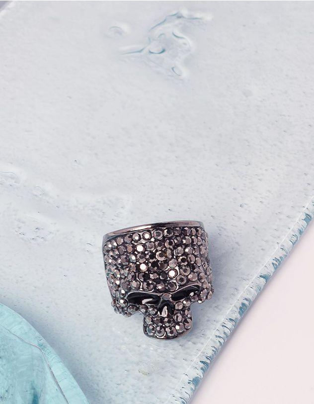 Перстень у вигляді черепа зі стразами | 240595-10-38 - A-SHOP