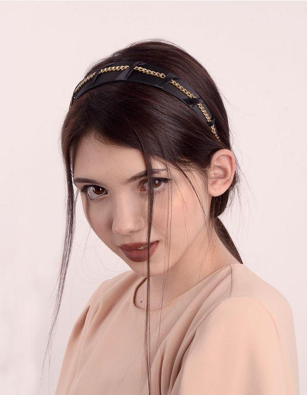 Обідок для волосся з ланцюжком | 246931-02-XX - A-SHOP