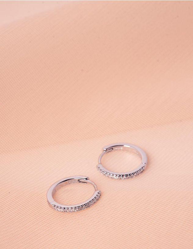 Сережки кільця маленькі зі стразами | 244668-06-XX - A-SHOP
