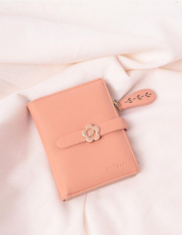 Гаманець портмоне жіночий з ромашкою на шльовці | 244924-44-XX - A-SHOP