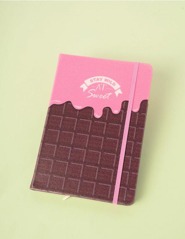 Блокнот у лінію з принтом шоколадки | 245419-17-XX - A-SHOP