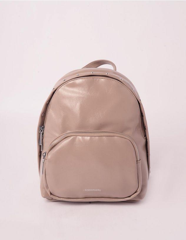 Рюкзак декорований кльопками з кишенею на блискавці | 245750-39-XX - A-SHOP