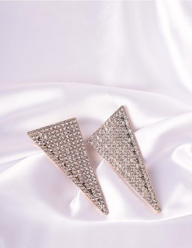 Сережки фігурні декоровані стразами   245627-06-XX - A-SHOP