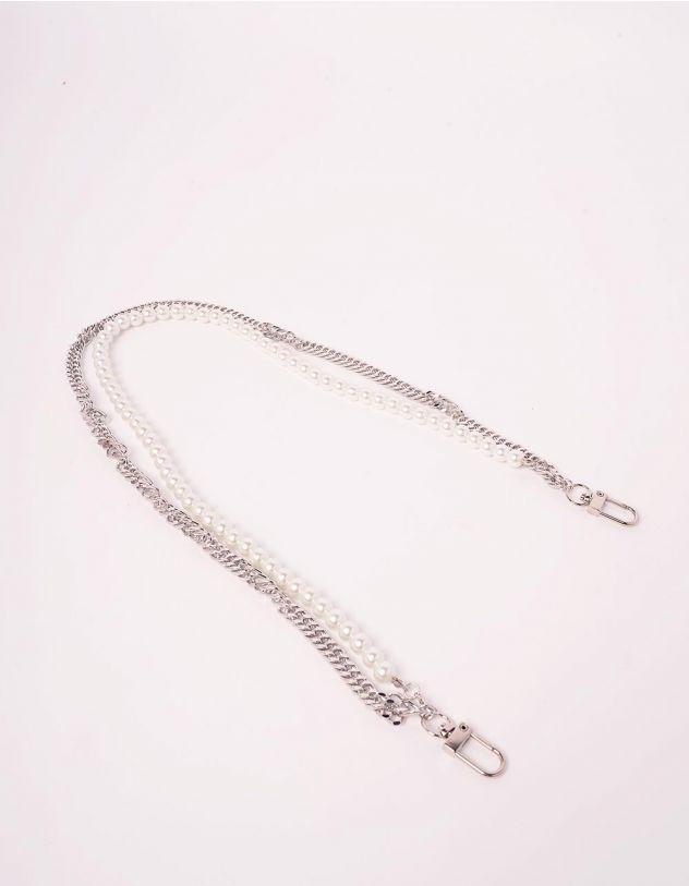 Ланцюжок для одягу подвійний з перлинами | 244070-06-XX - A-SHOP