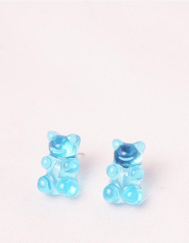 Сережки з гвіздочками у вигляді желейних ведмедиків | 245588-13-XX - A-SHOP