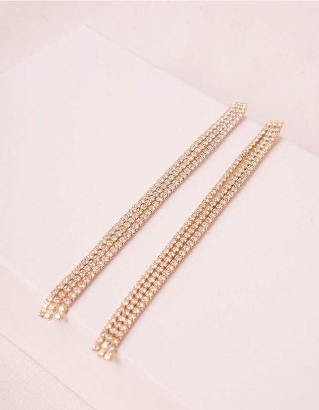 Сережки довгі декоровані стразами | 249410-08-XX - A-SHOP
