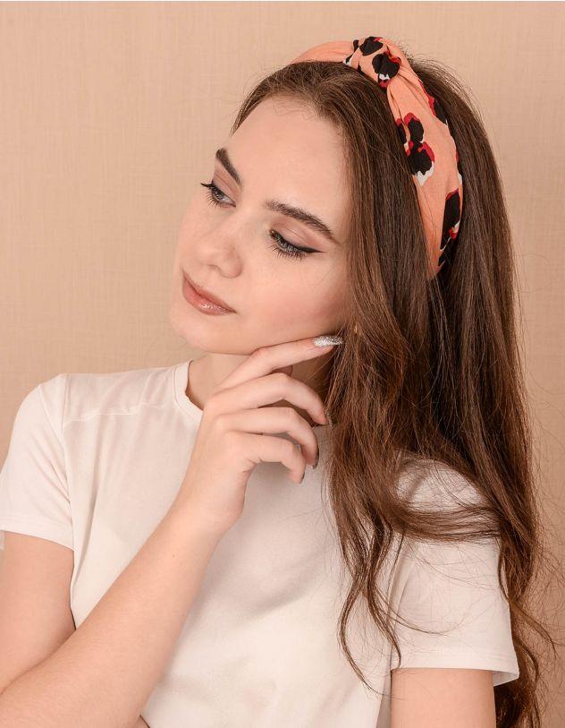 Обідок для волосся з принтом | 239015-26-XX - A-SHOP
