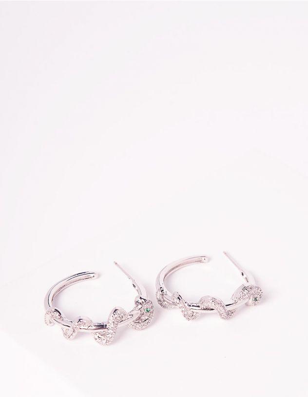 Сережки кільця зі зміями | 245303-06-XX - A-SHOP