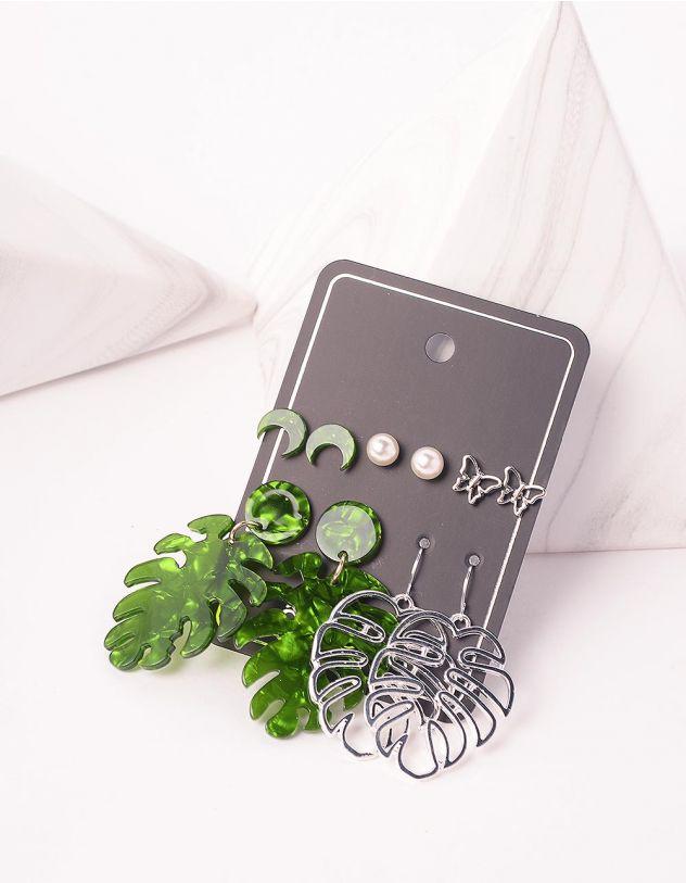 Сережки у вигляді листя | 243832-21-XX - A-SHOP