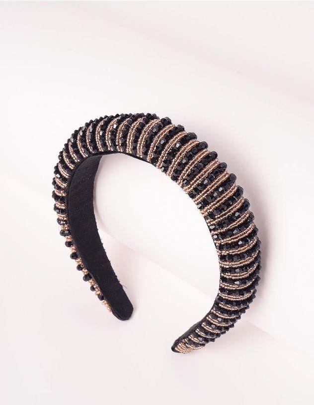 Обідок для волосся з намистинами та фурнітурою | 247441-09-XX - A-SHOP