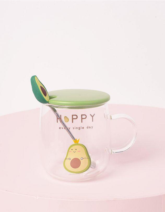 Чашка на 450мл з принтом авокадо | 243707-20-XX - A-SHOP