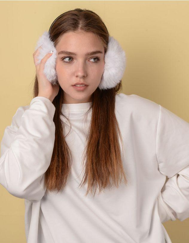 Навушники хутряні з тонкою дужкою | 234294-01-XX - A-SHOP