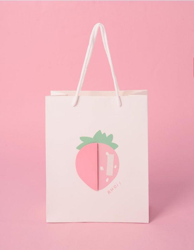 Пакет подарунковий з принтом фруктів | 240700-01-XX