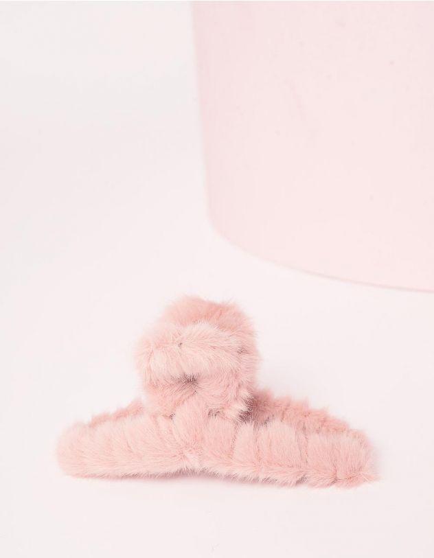 Шпилька для волосся крабік хутряна | 246549-14-XX - A-SHOP