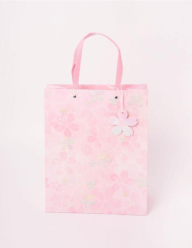 Пакет подарунковий з принтом квітів | 244135-88-XX - A-SHOP