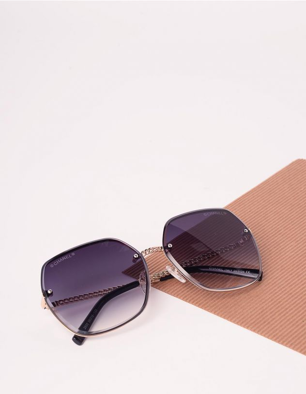 Окуляри сонцезахисні квадратні з градієнтом | 240903-09-XX