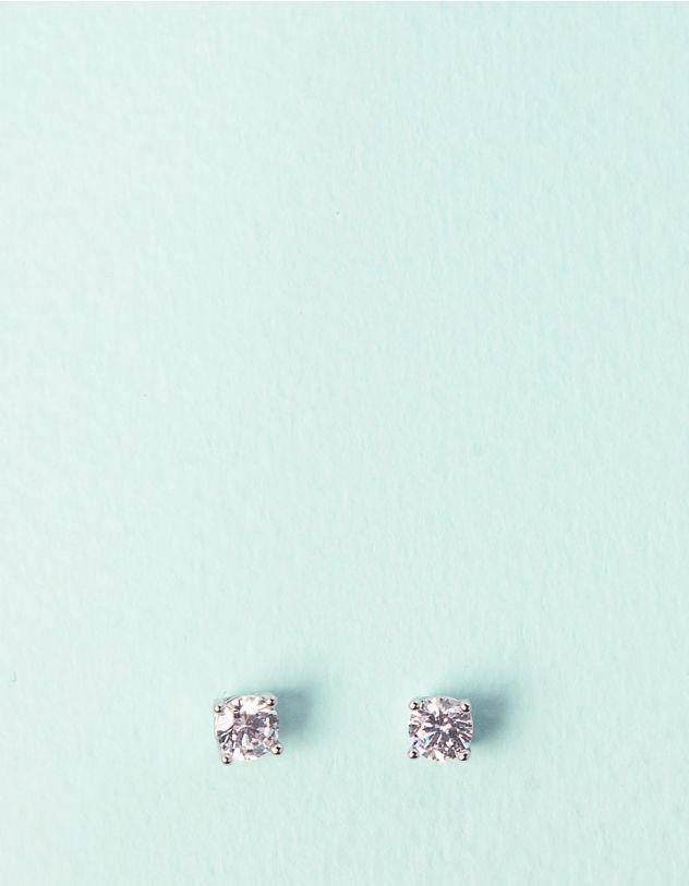 Сережки пусети зі стразами | 241440-06-XX - A-SHOP
