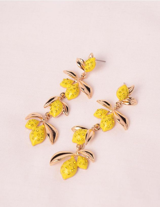 Сережки у вигляді лимонів | 246192-19-XX - A-SHOP