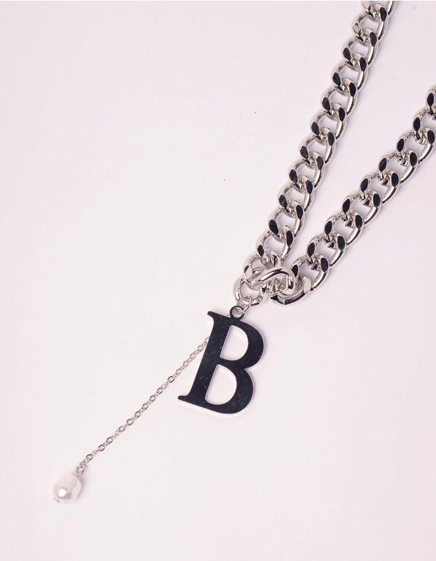 Підвіска ланцюг на шию з кулоном у вигляді літери | 245935-06-XX - A-SHOP