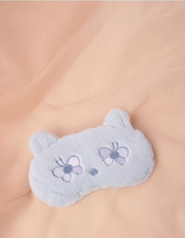 Пов'язка для сну у вигляді ведмедика з метеликами   244701-18-XX - A-SHOP