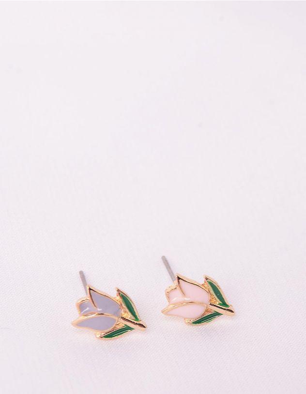 Сережки пусети у вигляді тюльпанів   246202-21-XX - A-SHOP
