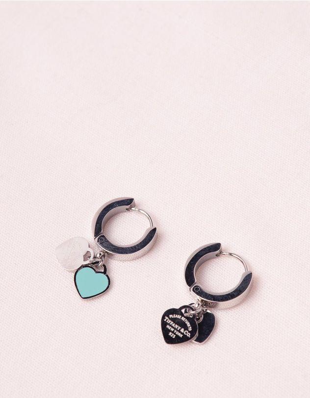 Сережки з підвісками у виглядi сердець   247154-65-XX - A-SHOP