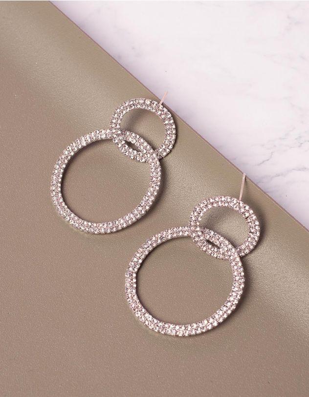Сережки кільця декоровані  стразами | 240447-06-XX - A-SHOP