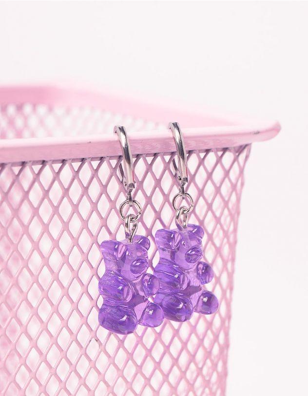 Сережки кільця у вигляді ведмедиків | 243563-03-XX - A-SHOP