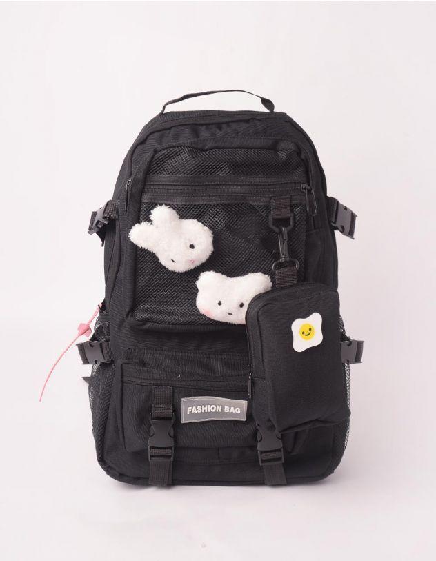 Рюкзак для міста з хутряними звірятками та монетницею | 245719-02-XX - A-SHOP