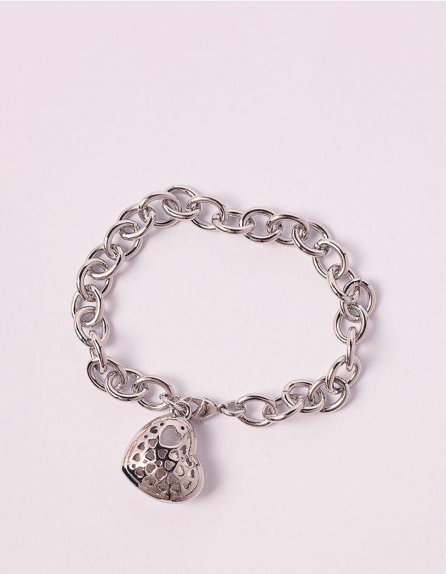 Браслет на руку із ланцюга з кулоном у вигляді серця   248858-05-XX - A-SHOP
