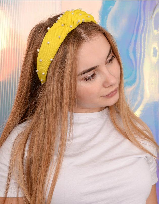 Обідок для волосся з перлинами | 239415-19-XX - A-SHOP