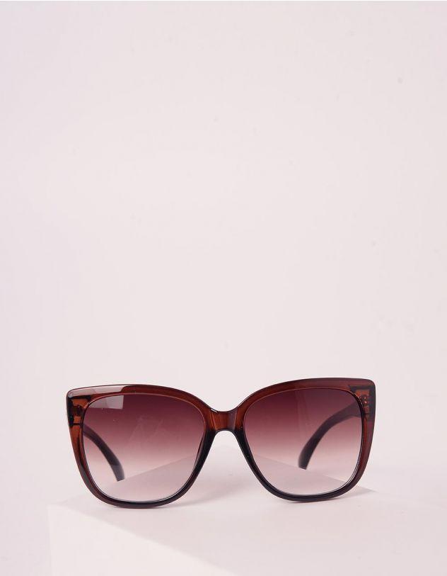 Окуляри сонцезахисні cat eye з градієнтом на лінзах та рельєфними дужками   243988-12-XX - A-SHOP