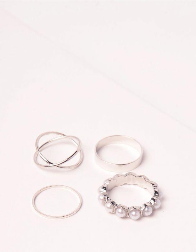 Кільця у наборі з перлинами | 249572-06-XX - A-SHOP