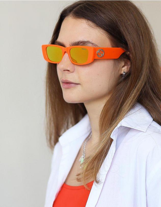 Окуляри сонцезахисні вузькі з фурнітурою на дужках | 248791-26-XX - A-SHOP