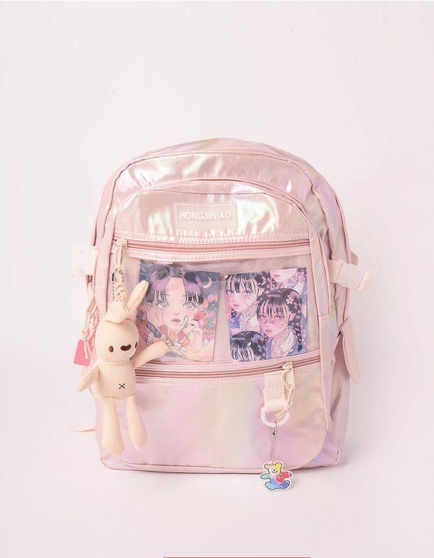 Рюкзак для міста з брелоком у вигляді кролика | 246597-14-XX - A-SHOP