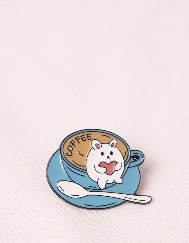 Брошка у вигляді хом'яка у чашці з кавою | 245673-13-XX - A-SHOP