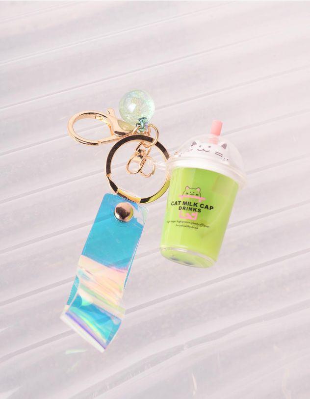 Брелок на сумку у вигляді склянки з кицькою   242907-37-XX - A-SHOP