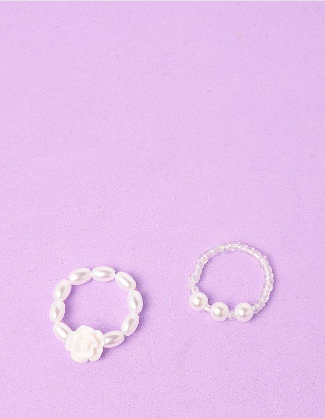 Кільця у наборі із перлин з квіткою | 249426-01-XX - A-SHOP